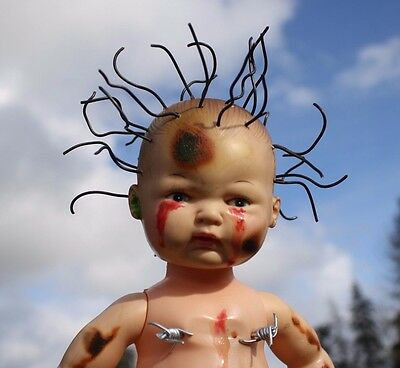 "Creepy Doll Wire-Hair 13"" Crying Blood Haunt Your Dreams Horsman"