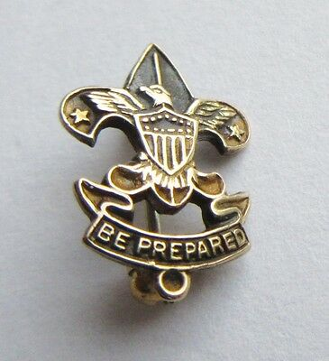 Vintage Eagle Boy Scouts of America Gold Pin  Be Prepared