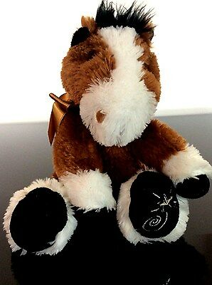 RUSS BERRIE SHINING STARS BROWN HORSE PLUSH Excellent Condition