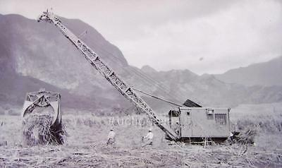 W115 1940's North West Lattice Crane In Action Clearing Brush Photo Negative