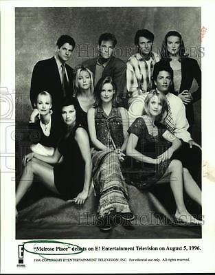"""1996 Press Photo Acting members of television's """"Melrose Place"""" - hcx10369"""