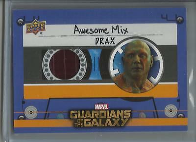 2017 Upper Deck Guardians of the Galaxy 2 DRAX Awesome Mix RELIC!