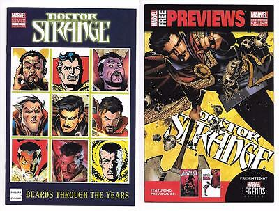 Doctor Strange #1 Beards Through The Years & Marvel Sdcc 2016 Con Preview Promos