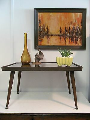 Mid Century Modern Rustic Splay leg End or Cocktail Table