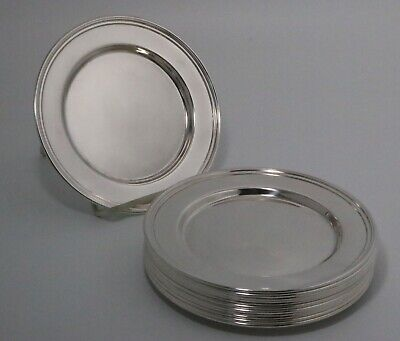 International Sterling Silver Plates Set of 12