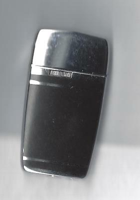 Vintage Ronson Butane Gas Lighter, Black / Silver Color case, See notes