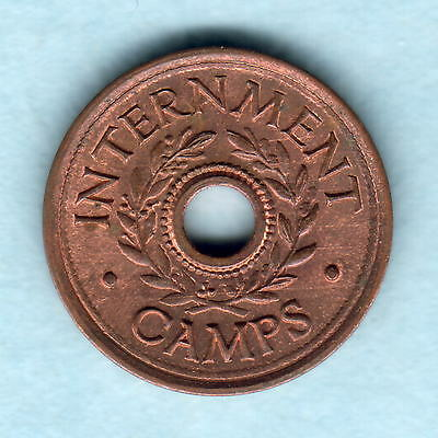 Australia - Internment Camps.  Threepence.. Full Lustre - UNC