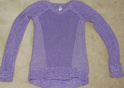 IVIVVA by LULULEMON BUSY TO BE COZY PULLOVER SWEATER Light Purple size 14 EUC