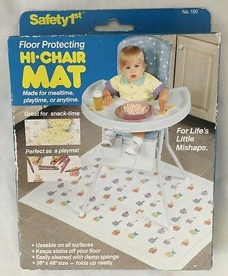 """Safety 1st Floor Protecting 36X48"""" HI-CHAIR MAT -  for Baby' Little Mishaps"""