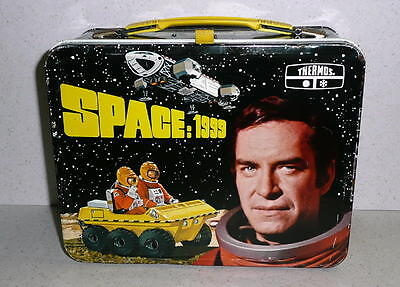 1975 King-SeeleyThermos Co. SPACE: 1999 Metal Lunchbox *EX Condition NO THERMOS