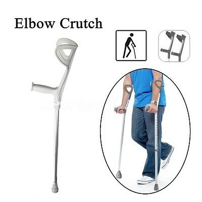2x Walking Aid Forearm Crutch Adjustable Height Disability Arm Cuff Crutches New