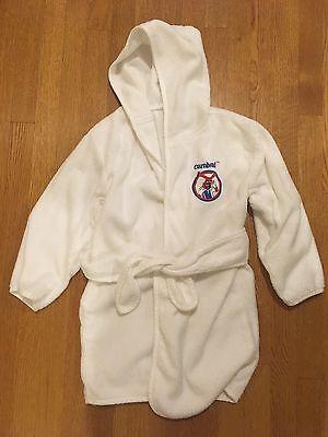 Kids White Terry Robe Carnival Cruise Freddy Youth 6-8 boys girls unisex
