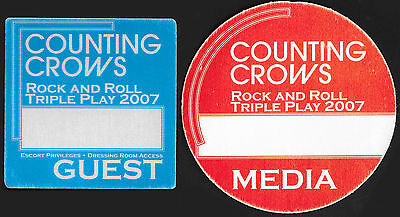 Counting Crows-2007 Backstage Pass-All Access-Escort-Dressing Room! Set Of Two!
