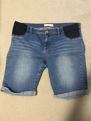 Maternity Denim Shorts Size 18