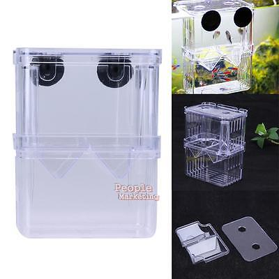Acrylic Aquarium Fish Tank Breeding Breeder Isolation Boxes Hatchery Incubator