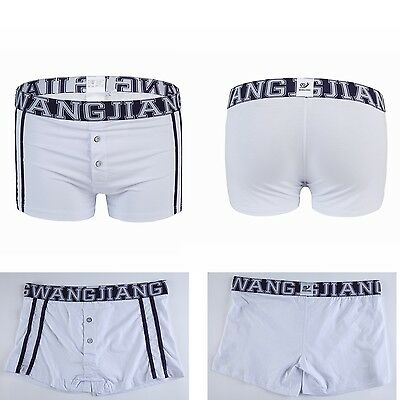 Men's Underwear Boxers Trunks Shorts Soft Underpants Boxer Briefs White-XL