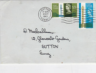 GB 1965 Post Office Tower  FDC Sutton CDS  VGC
