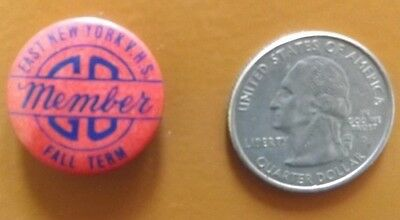 VINTAGE 1950-70s EAST NEW YORK VOCATIONAL HIGH SCHOOL PINBACK PIN BUTTON OLD