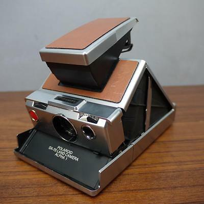 Clean Vintage Polaroid SX-70 Instant Land Camera Leather Case Untested Alpha 1