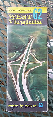 1962 West Virginia  road  map Official state highway