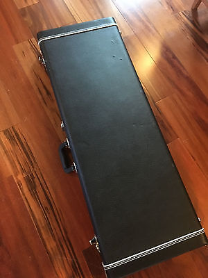 Black Tolex Hardshell Case for Fender Strat Tele Electric Guitar