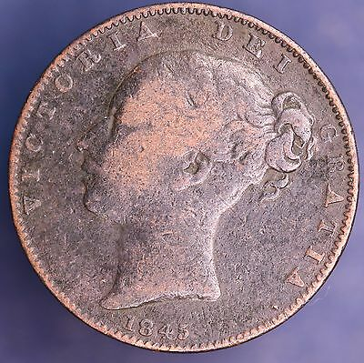 1845 Victoria Farthing, 1/4 penny 1/4d coin *[9774]