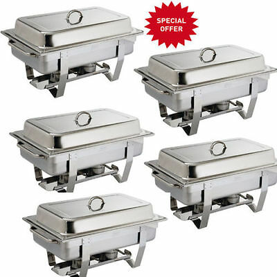 Chafing Dish 5 Pack Special Offer Catering Grade Stainless Steel  Free Delivery