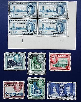 ST VINCENT - Early Collection of MNH & MH Stamps