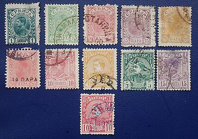 SERBIA - Early Collection of Used Stamps