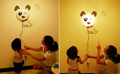 3D Wallpaper Sticker Nightlight Wall Lamp Home Decor XMAS Kids Gift Cartoon Dog