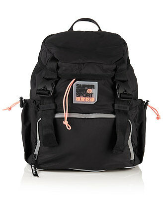 New Womens Superdry Super Sport Backpack Black