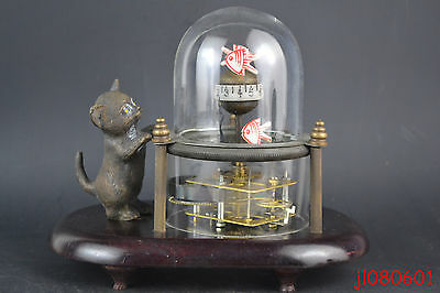 China Collectible Decor Mechanical Clock Cat Cute Regular Work (Only Hour)