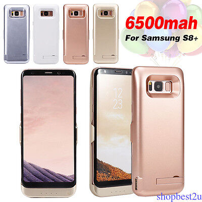 For Samsung Galaxy S8 S8 Plus 5000/5500/6500mAh Power Bank Battery Charger Case