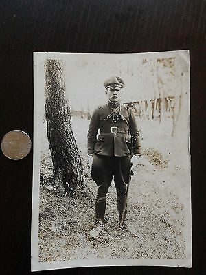 Original Wwii Japanese Photo: Army 8Th Regiment Officer, War Sword!!!