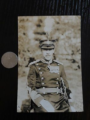 Original Wwii Japanese Photo: Army Officer In Full Uniform, War Medals!!!