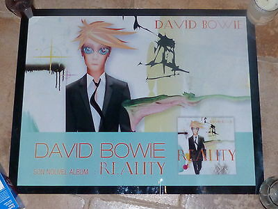 David Bowie - Reality!!french Transparent Plastic Promo Poster!!!!!!!!!!
