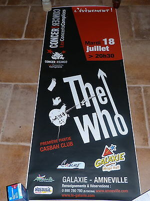 The Who -  - Mega Rare French Promo Concert Poster !!!!!!!!!!!!!!