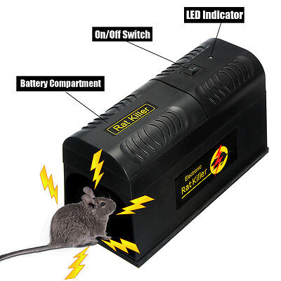 Electronic Mouse Trap Poison Victor Control Rat Rodent Killer Pest Mice Zapper