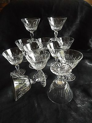 12 Webb Corbett Crystal Cut Glass Champagne Coupe Glasses Signed At Base