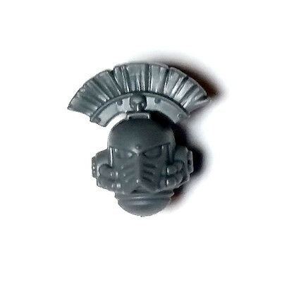Space Marine Legion MKIV Tactical Squad HEAD with Crest / Plume Horus Heresy 30K