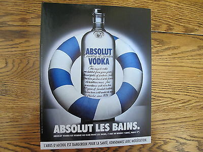 Absolut Vodka Print Ad, Clipping Les Bains
