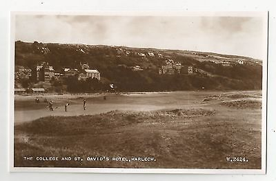 re wales welsh postcard harlech