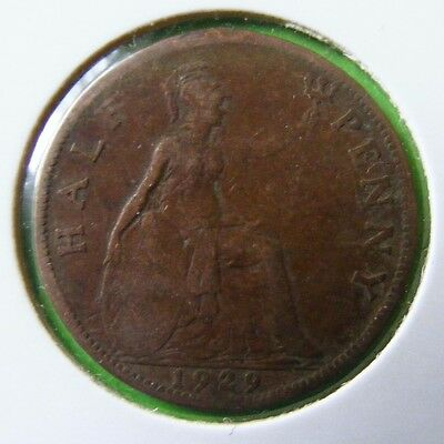 George V Half Penny Coin Minted 1929 - Lot#5518