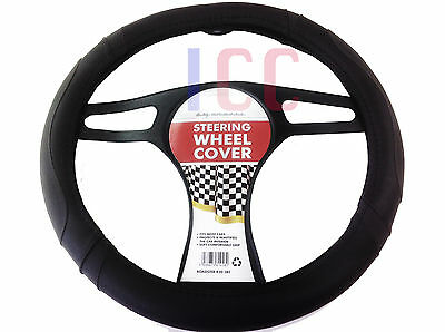 BLACK car small van EG Vito Steering Wheel Cover Glove leather look QUALITY pad