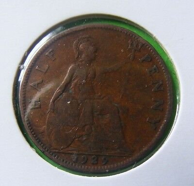 George V Half Penny Coin Minted 1929 - In Holder - No Reserve - Lot#5210
