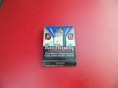 Vintage Matchbook Hotel Piccadilly New York 19 Of 20 Matches Remaining