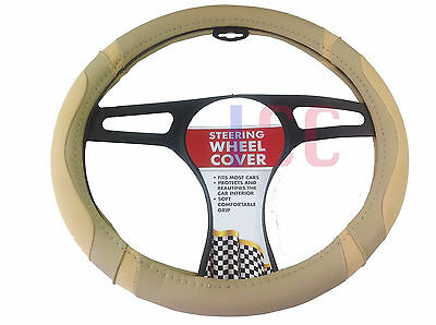 TAN car small van EG Vito Lace Steering Wheel Cover Glove leather look brown