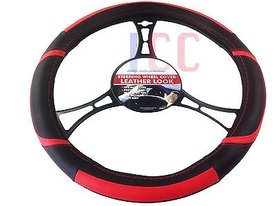 RED car small van EG Vito Lace Steering Wheel Cover Glove leather look QUALITY