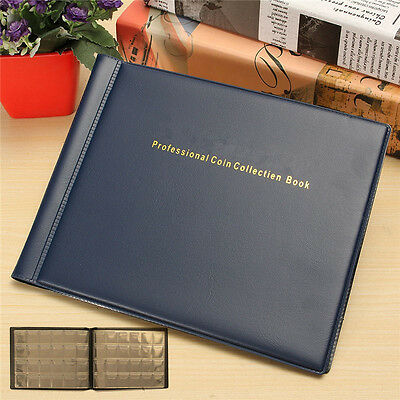 240 Collection Storage Penny Pockets Money Album Book Collecting Coin Holders US