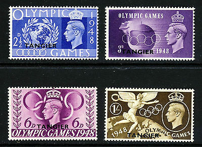 MOROCCO AGENCIES TANGIER KG VI 1948 Olympic Games Set SG 257 to SG 260 MINT